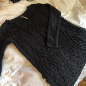 Free People Cable Sweater